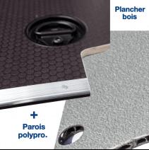 Habillage complet alliant les meilleurs matériaux : bois et polypropylène - Renault Trafic 2014+