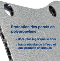 Habillage polypro & bois - Peugeot Bipper - détail protection en polypropylène  des parois