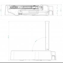 Combiné Triflash LED 500 motorisé - schéma technique et dimensions