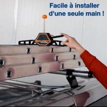 Fixe-échelle (lot de 2) - permet de fixer l'échelle à la galerie d'une seule main en 3s !