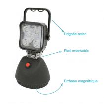 Phare de travail à LED autonome et magnétique - descriptif