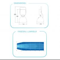 Phare de travail à LED autonome et magnétique - caractéristiques