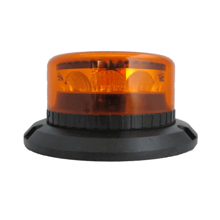 Gyrophare LED orange rotatif - fixation 3 points