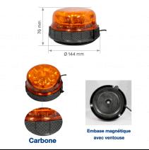 Gyrophare LED orange rotatif magnétique - détails
