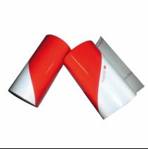 Kit de 2 rouleaux bandes alternées 3M classe A - visibilité 80m