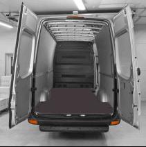 Habillage polypro & bois - Mercedes Sprinter 2018+ Propulsion - kit complet plancher contreplaqué + parois polypro