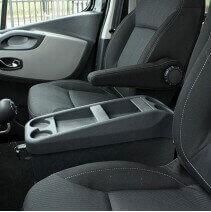 Console centrale pour Ford Custom - vue installée dans un utilitaire
