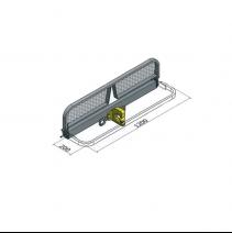 Marchepied relevable - utilitaires avec attelage - dimensions