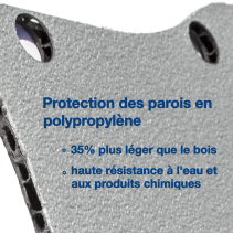 Habillage complet polypro & bois - Citroen Berlingo Van 2018 plus - détails protections parois polypro