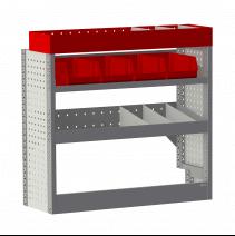 Aménagement métal Peugeot Expert 2016+ Standard (L2) - ZEVIM Economique rouge - côté droit