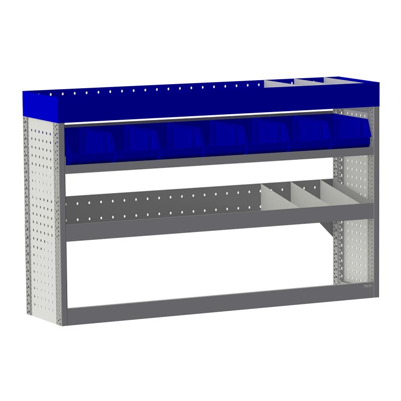 Aménagement métal Citroen Berlingo Van L2 - ZEVIM Economique bleu - côté gauche