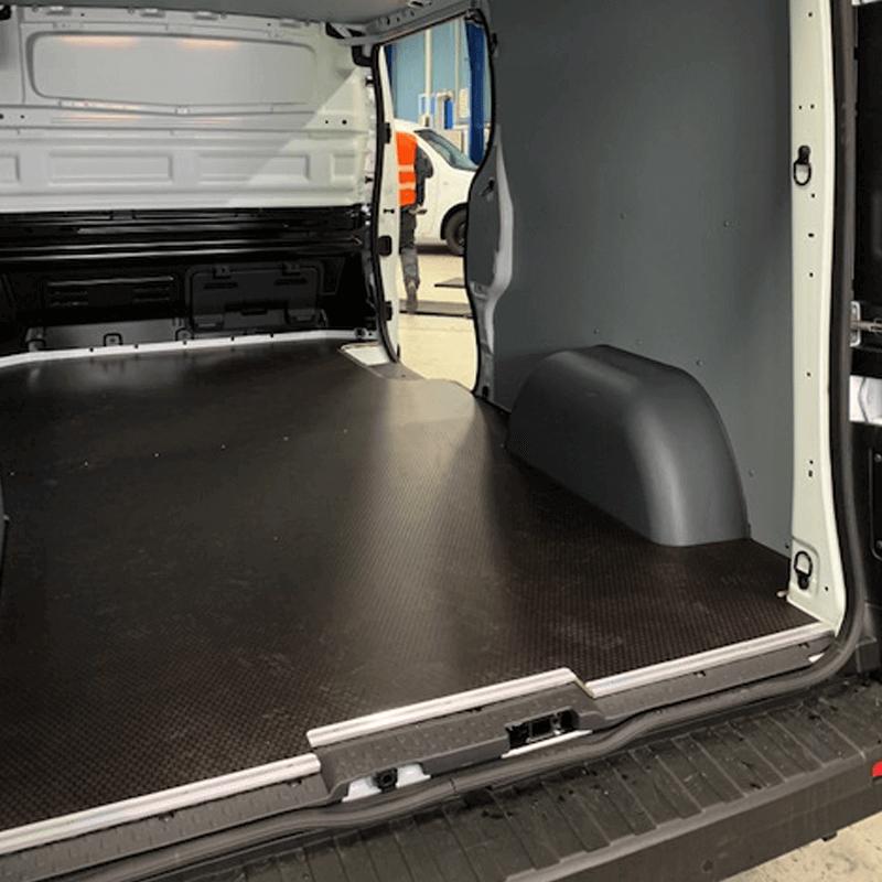 Kit habillage bois complet pour Renault Trafic 2014+ avec protection des passages de roue thermoformés en PEDH