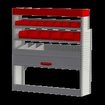 Aménagement métal Ford Transit L2H2 - ZEVIM Standard rouge - côté droit