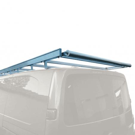 Galerie aluminium pour Citroen Jumpy. Galerie plate idéale pour parkings