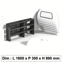 Aménagement métallique ECO12 pour véhicule utilitaire