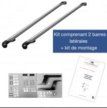 Barres latérales Peugeot Expert 2016+ L2/L3. Kit complet avec visserie et notice de montage.