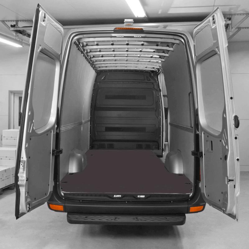 Habillage polypro & bois - Mercedes Sprinter 2018+ Traction - kit complet plancher contreplaqué + parois polypro