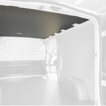 Protection plafond gris pour Toyota Proace 2016+. Exemple sur Renault Trafic. La découpe sera spécifique à votre modèle