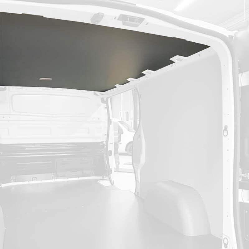 Protection plafond gris pour Nissan NV400 Exemple sur Renault Trafic. La découpe sera spécifique à votre modèle