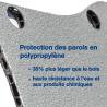 Habillage complet polypro & bois - Renault Kangoo - détail des protections en polypropylène des parois