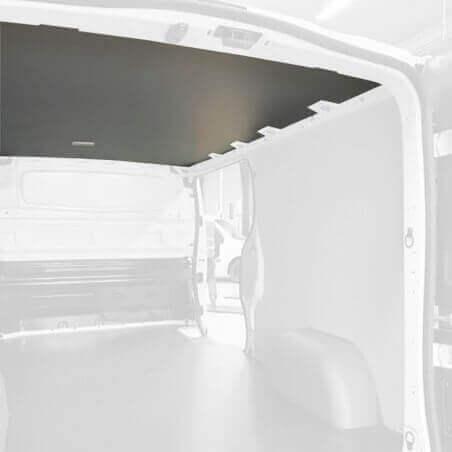 Protection plafond gris pour Dacia Dokker Van. Exemple sur Renault Trafic. La découpe sera spécifique à votre modèle