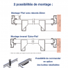 Schéma galerie aluminium plate pour Peugeot Bipper