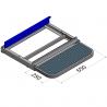 Dimensions marchepied latéral rétractable - Ford Transit