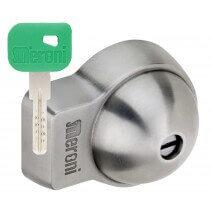 Serrures antivol utilitaire Meroni à fermeture automatique - clé plate