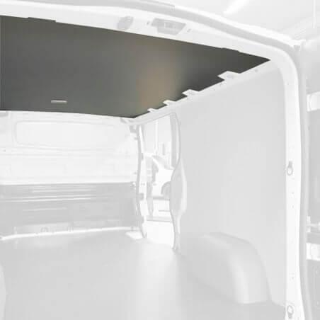 Protection plafond gris pour Express Van. Exemple sur Renault Trafic. La découpe sera spécifique à votre modèle