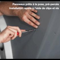 Montage panneaux contreplaqués filmés gris pour parois Renault Trafic