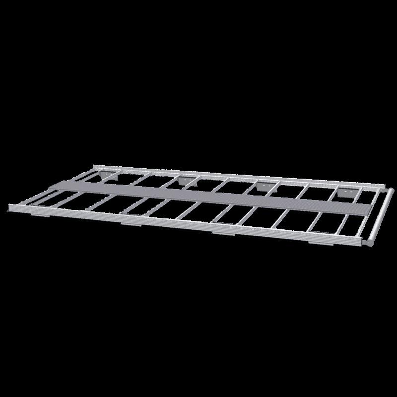 Galerie aluminium pour Citroen Jumper. Galerie plate idéale pour parkings