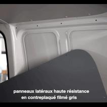 Habillage bois complet pour Citroen Jumpy 2016 - détail panneau paroi