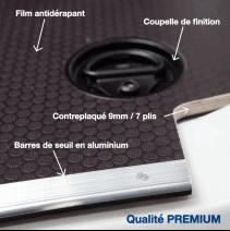 Habillage bois complet pour Fiat Ducato - détails plancher