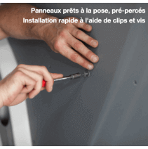 Habillage polypro & bois - Renault Trafic - pose facile