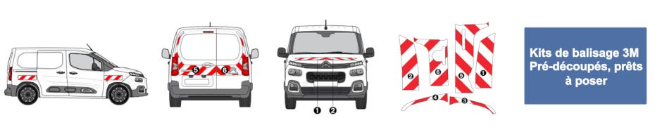 Kits de balisage 3M pour véhicule utilitaire