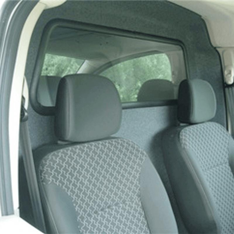 Cloison de séparation avec vitre fixe, vue côté cabine
